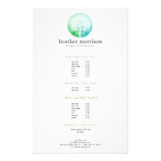 Watercolor Tree Yoga and Wellness Flyer