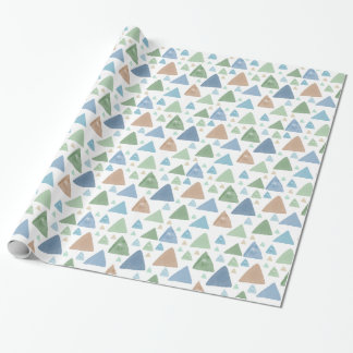 Watercolor Triangles Wrapping Paper