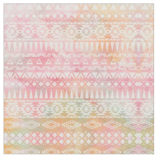 Watercolor Tribal Chic Geometric Stripe Fabric