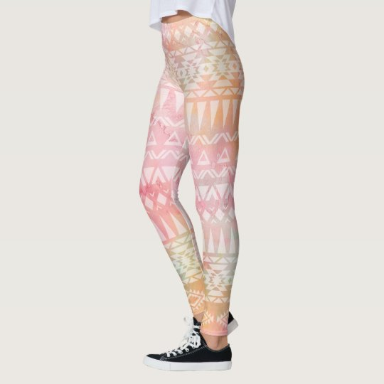 Watercolor Tribal Pink Legging