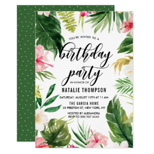 tropical flowers invitations stationery zazzle ca