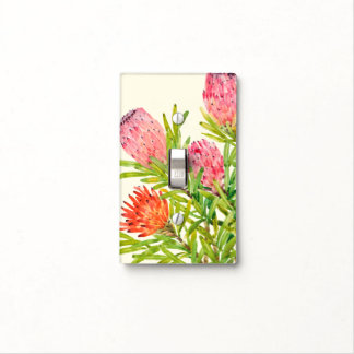 Watercolor Tropical Flowers Light Switch Cover