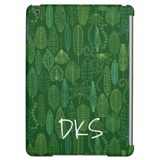 Watercolor Tropical Leaves | Monogram iPad Air Case