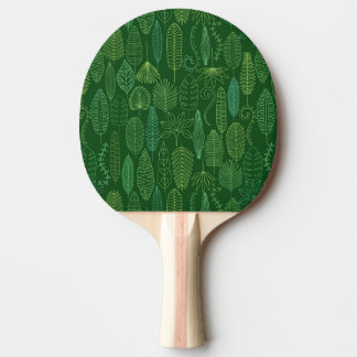 Watercolor Tropical Leaves Ping Pong Paddle
