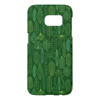 Watercolor Tropical Leaves Samsung Galaxy S7 Case