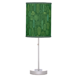 Watercolor Tropical Leaves Table Lamp
