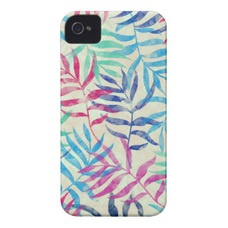 Watercolor Tropical Palm Leaves Case-Mate iPhone 4 Case