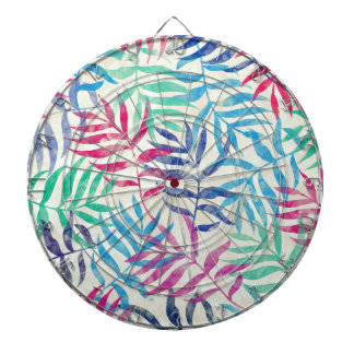 Watercolor Tropical Palm Leaves Dartboard