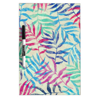 Watercolor Tropical Palm Leaves II Dry Erase Board