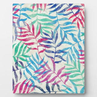 Watercolor Tropical Palm Leaves Plaque