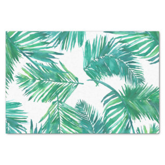 watercolor tropical palm leaves tissue paper