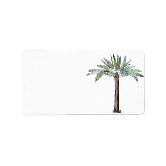 Watercolor Tropical Palm Tree
