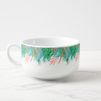 Watercolor Tropicals Soup Mug