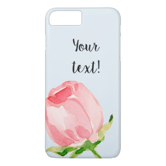 Watercolor tulip chick design with text iPhone 8 plus/7 plus case