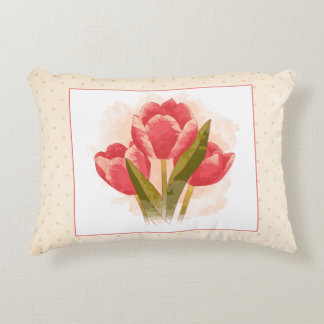 Watercolor Tulips 12x16in Pillow