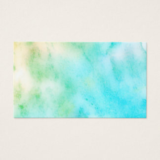 watercolor turquoise  business card double sided