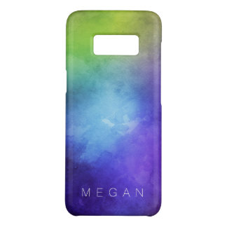 Watercolor Turquoise Purple Green Customizable Case-Mate Samsung Galaxy S8 Case