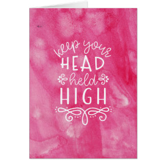 Watercolor Typography Motivational Card