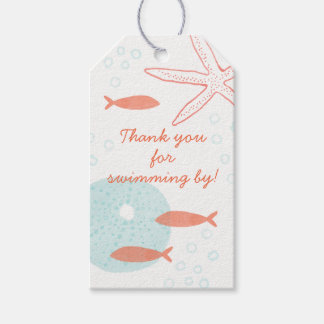 Watercolor Underwater Gift Tag Pack Of Gift Tags