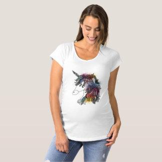 watercolor unicorn maternity T-Shirt