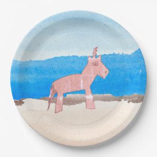 Watercolor Unicorn Paper Plates 9 Inch Paper Plate
