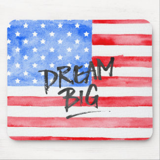 Watercolor USA Flag Mouse Pad