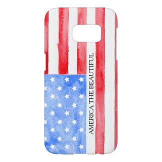 Watercolor USA Flag Samsung Galaxy S7 Case
