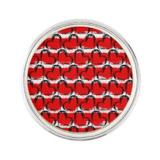 Watercolor Valentine Hearts Lapel Pin