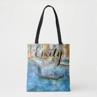 Watercolor Venice Italy Custom Bag