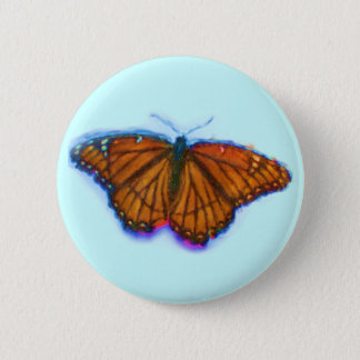 Watercolor Viceroy Butterfly Button Flair