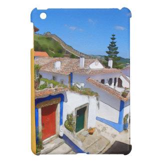 Watercolor village iPad mini cover