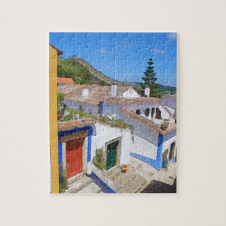 Watercolor village jigsaw puzzle