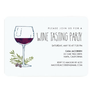 Watercolor Vino | Wine Tasting Party Card
