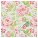 Watercolor Vintage Pink Peony Fabric