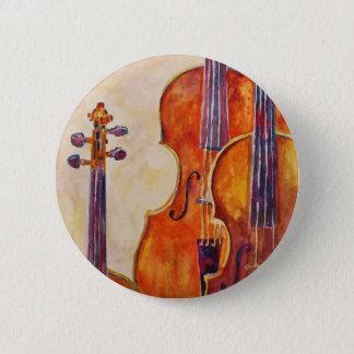 Watercolor Violins 2 Inch Round Button