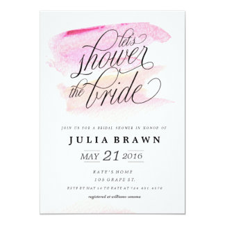 WATERCOLOR WASH bridal shower invitation