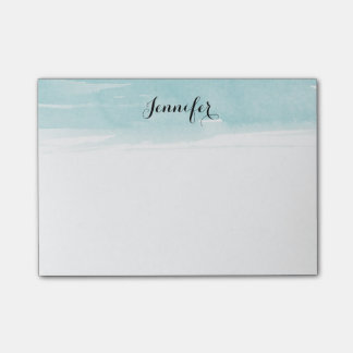 Watercolor wash Notes, blue Post-it® Notes