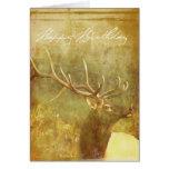 Watercolor wash Painted Elk Birthday Card