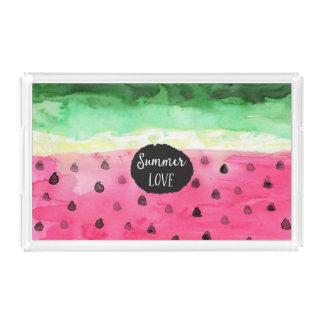 Watercolor Watermelon Acrylic Tray