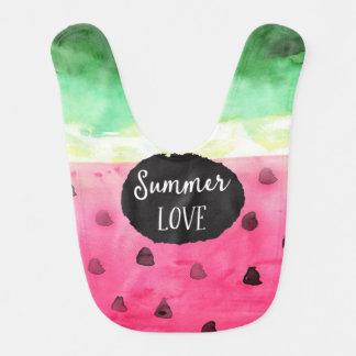 Watercolor Watermelon Bib