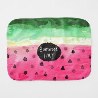 Watercolor Watermelon Burp Cloth