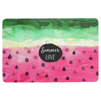 Watercolor Watermelon Floor Mat