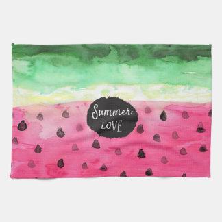 Watercolor Watermelon Kitchen Towel