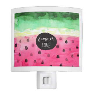 Watercolor Watermelon Nite Lights