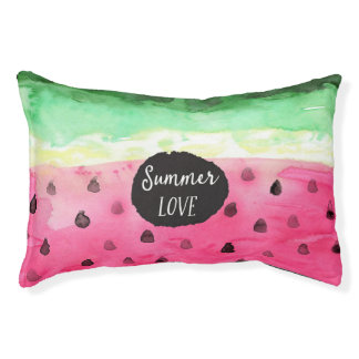 Watercolor Watermelon Pet Bed