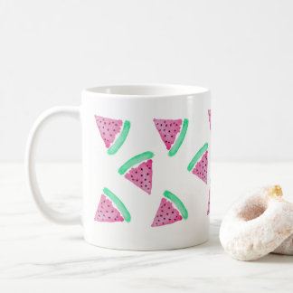 Watercolor Watermelon Pink and Green Mug Pattern