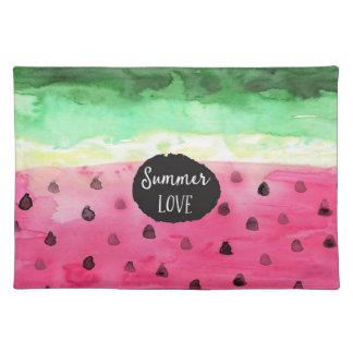 Watercolor Watermelon Placemat