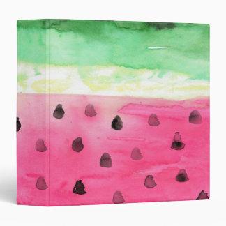 Watercolor Watermelon Vinyl Binder