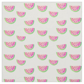 Watercolor Watermelons Fabric