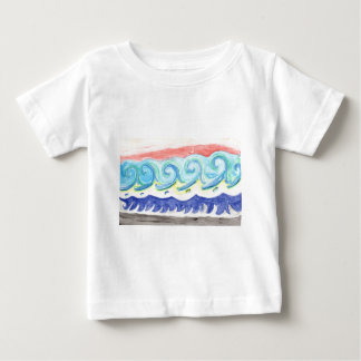 Watercolor Waves Baby T-Shirt